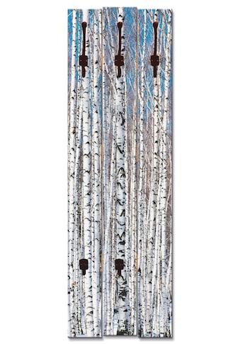 Artland Garderobenpaneel »Winterbirkenwald Wintergelassenheit«, platzsparende... kaufen
