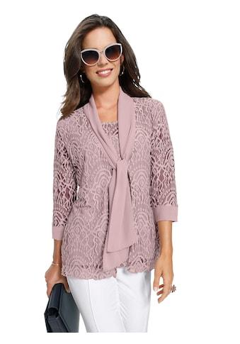 Lady Shirtjacke mit femininer Spitze kaufen