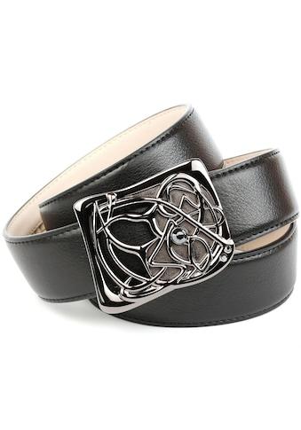 Anthoni Crown Ledergürtel, mit Designer Schliesse kaufen