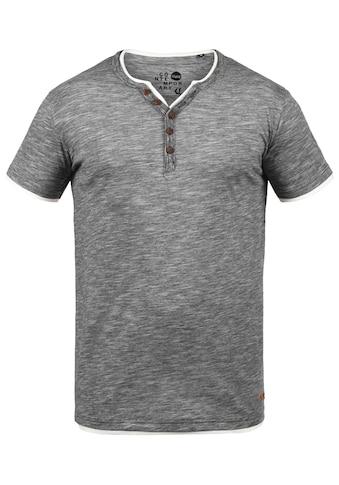Solid Rundhalsshirt »Digos«, T-Shirt mit Knopfleiste kaufen