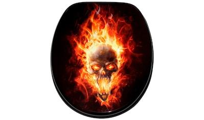 Sanilo WC-Sitz »Totenkopf in Flammen«, mit Absenkautomatik kaufen