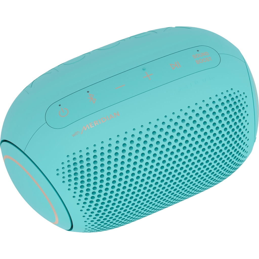 LG In-Ear-Kopfhörer »FN6 Macaron Jellybean«, Bluetooth, Sprachsteuerung-Noise-Reduction-LED Ladestandsanzeige-UV-Reinigung, inkl. Bluetooth-Speaker (UVP 69,99) und Macaron Case (UVP 9,99)