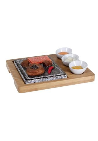 Hot Stone Platte Bambus 5teilig, Nouvel kaufen