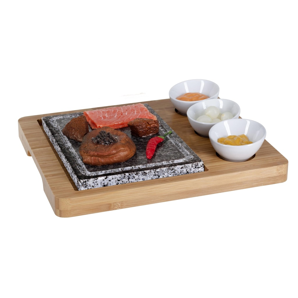 Raclette »Platte Bambus 5teilig«, - W