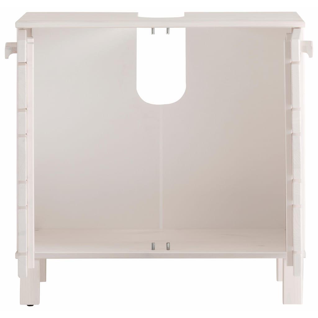 Home affaire Waschbeckenunterschrank »Jossy«, aus Massivholz, Breite 60 cm