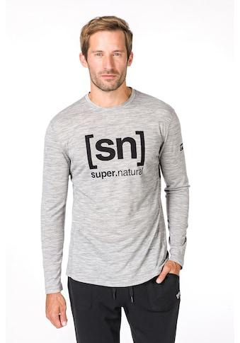 SUPER.NATURAL Longsleeve »M ESSENTIAL I.D. LS«, feinster Merino-Materialmix kaufen