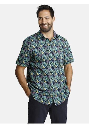 Jan Vanderstorm Kurzarmhemd »TYCHO«, bedruckt mit Blättermotiv kaufen
