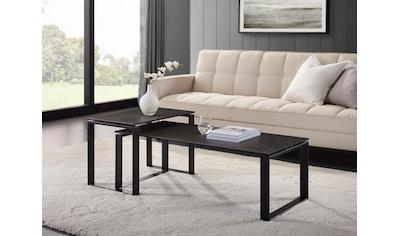 Places of Style Couchtisch »Orford«, (Set, 2er-Set), 2er-Set, Tischplatte in Schieferoptik kaufen
