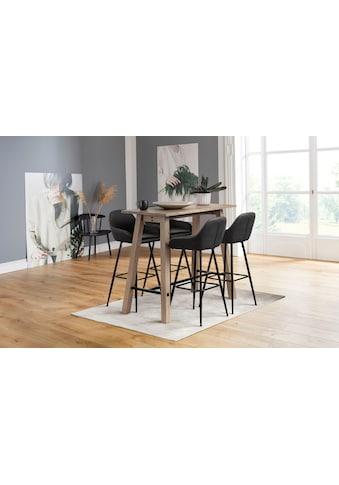 andas Barhocker »Carla«, 2er Set, mit schönem schwarzen Metallgestell, mit Kunstleder Bezug, Sitzhöhe 76,5 cm kaufen