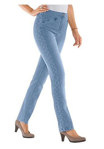 Classic Basics Jeans mit streckenden Ziernähten an den Seiten kaufen
