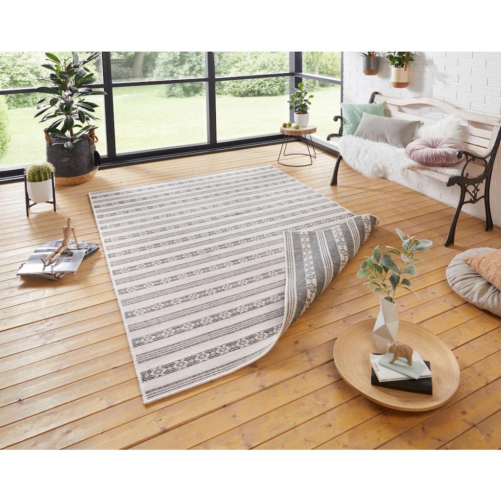 bougari Teppich »Fiji«, rechteckig, 5 mm Höhe, In- und Outdoor geeignet, Wendeteppich, Wohnzimmer