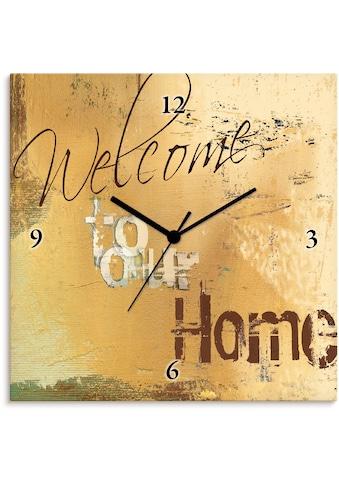 Artland Wanduhr »Willkommen in unserem Zuhause« kaufen