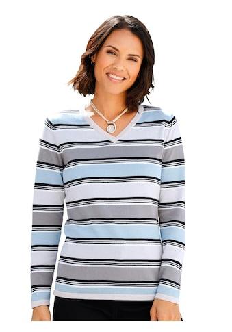 Casual Looks Pullover mit V - Ausschnitt kaufen