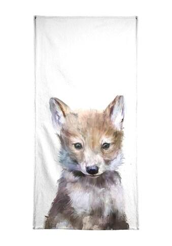 """Handtuch """"Little Wolf"""", Juniqe kaufen"""