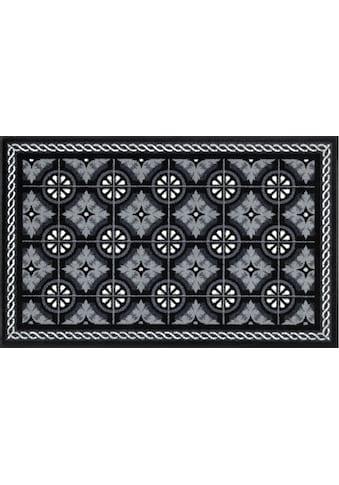 wash+dry by Kleen-Tex Teppich »Kitchen Tiles«, rechteckig, 7 mm Höhe, Wohnzimmer kaufen