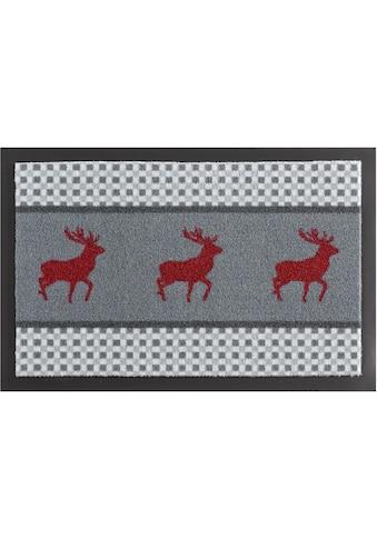 Fussmatte, »Hirsch Deer«, HANSE Home, rechteckig, Höhe 7 mm, maschinell gewebt kaufen