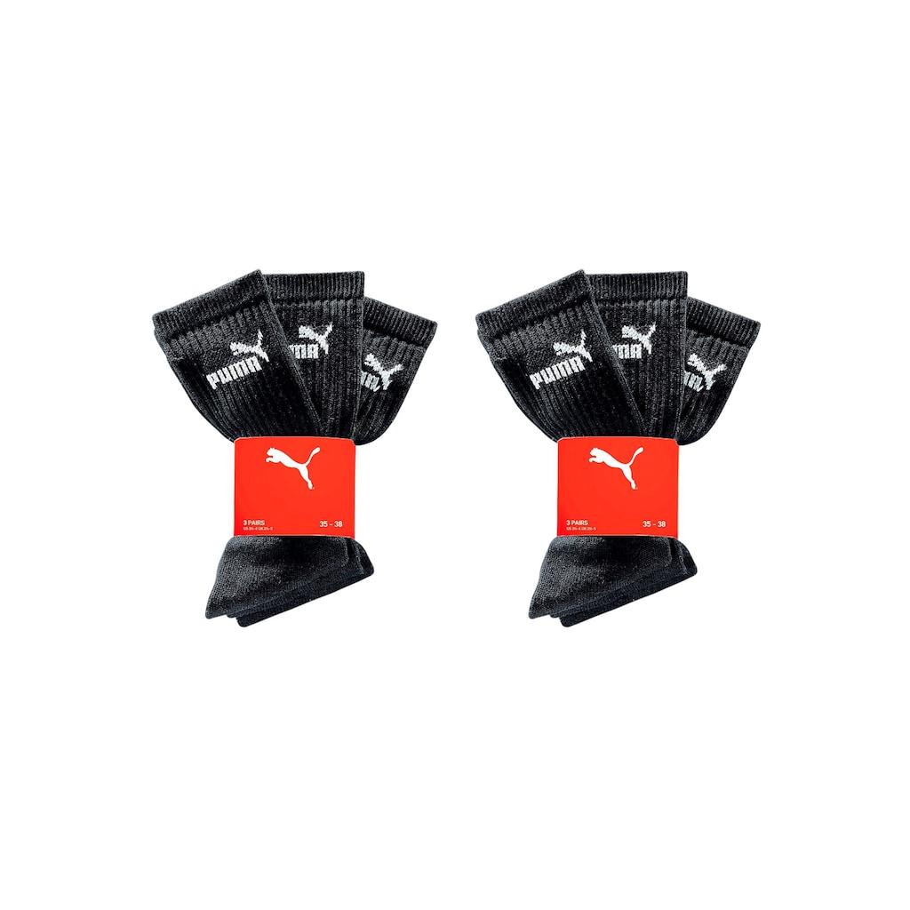 PUMA Sportsocken, (6 Paar), mit klassischer Rippe