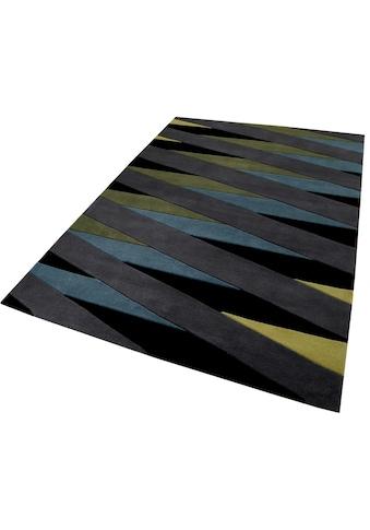 Esprit Teppich »Lamella«, rechteckig, 10 mm Höhe, reine Schurwolle, Wohnzimmer kaufen