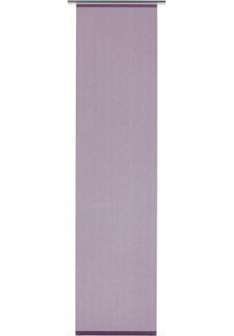 Schiebegardine, »Flächenvorhang Stoff Uni mit silberfarbennen Paneelwagen«, GARDINIA, Klettband 1 Stück kaufen