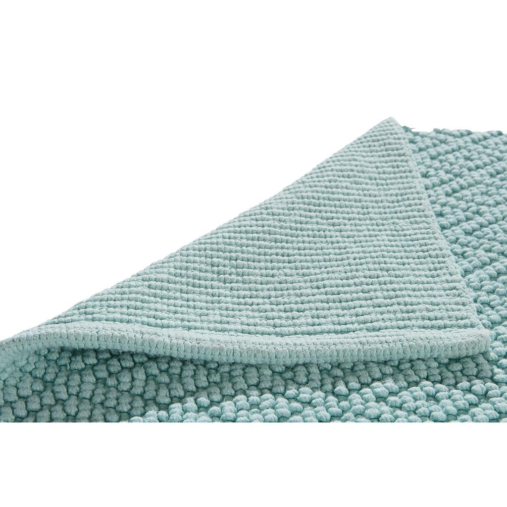 Home affaire Badematte »Numan«, Höhe 10 mm, schnell trocknend-strapazierfähig, rutschhemmender Rücken