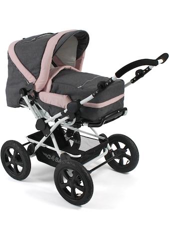 CHIC4BABY Kombi-Kinderwagen »Viva, Melange Rosa«, 15 kg, ; Kinderwagen kaufen