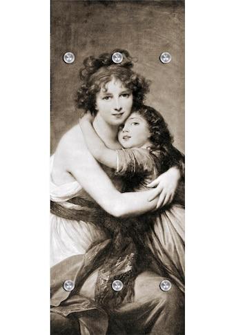 queence Garderobenpaneel »Mutter und Kind«, mit 6 Haken, 50 x 120 cm kaufen