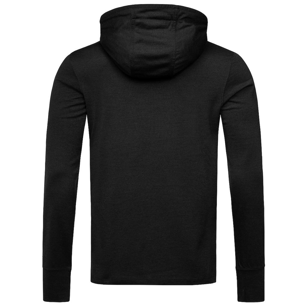 SUPER.NATURAL Kapuzensweatshirt »M ALPINE HOODED«, funktioneller Merino-Materialmix