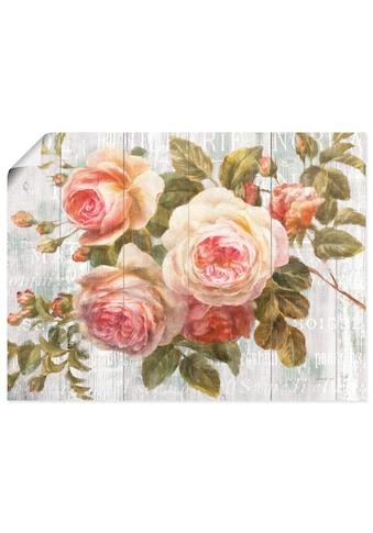 Artland Wandbild »Vintage Rosen auf Holz« kaufen
