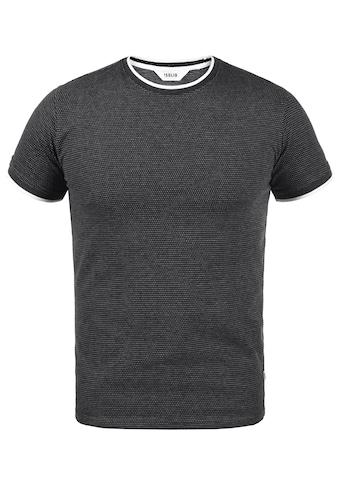 Solid Rundhalsshirt »Saul«, Kurzarmshirt mit All-Over Print kaufen