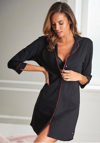 s.Oliver Nachthemd, in klassischem Schnitt mit 3/4-Ärmeln kaufen