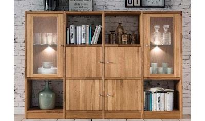 Premium collection by Home affaire Regal »Ecko«, aus massiver Wildeiche, Breite 181 cm, inkl. Beleuchtung kaufen
