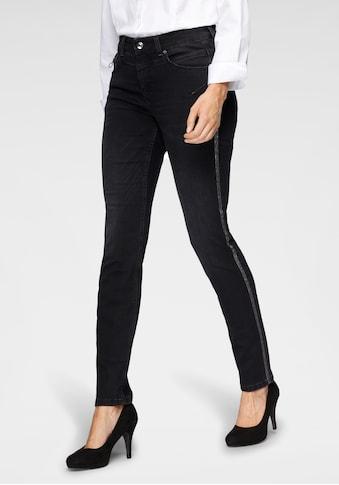 MAC Slim-fit-Jeans »Rich-Slim Galloon«, Den Po betonende Nähte und Glitzer-Galon an den Seitennähten kaufen