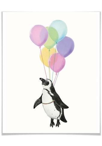 Wall-Art Poster »Pinguin Luftballon«, Tiere, (1 St.), Poster, Wandbild, Bild, Wandposter kaufen