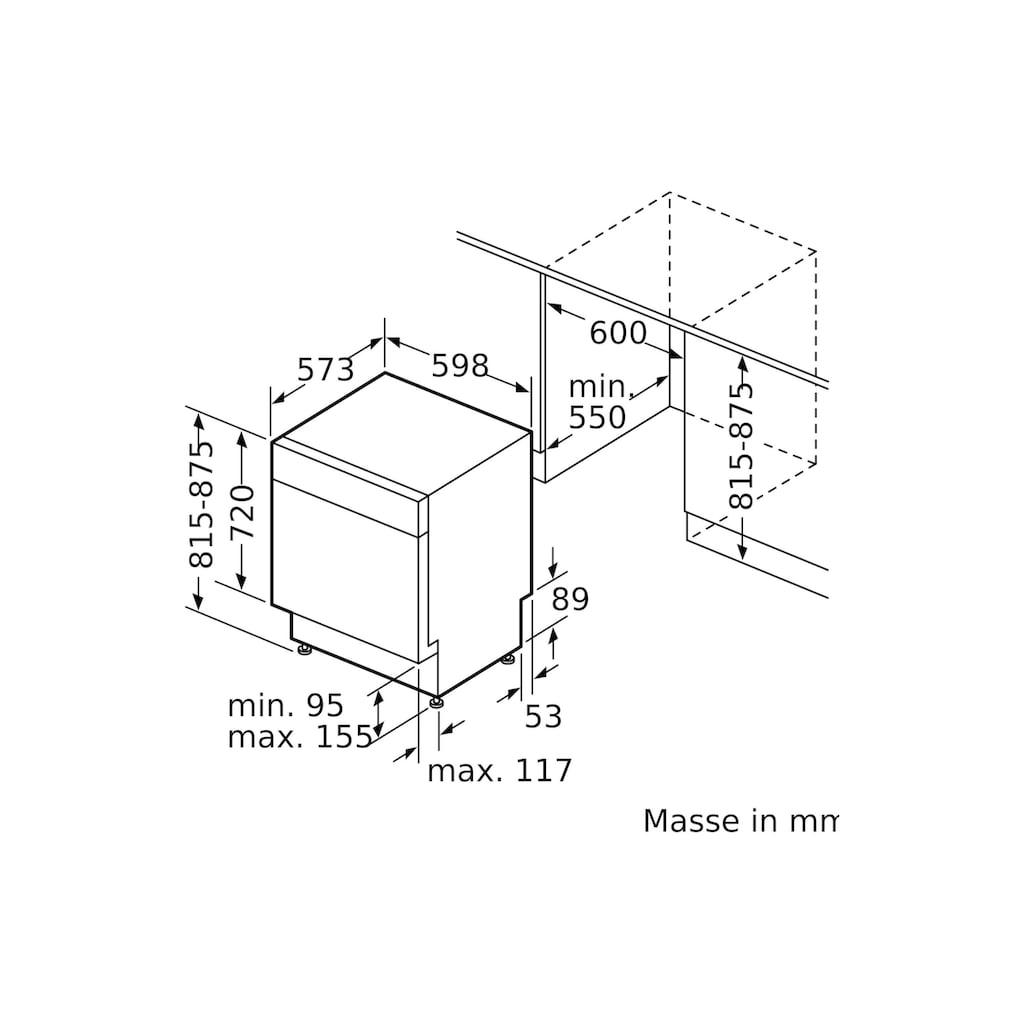 SIEMENS teilintegrierbarer Geschirrspüler »iQ300 SN43EW14AH«, SN43EW14AH
