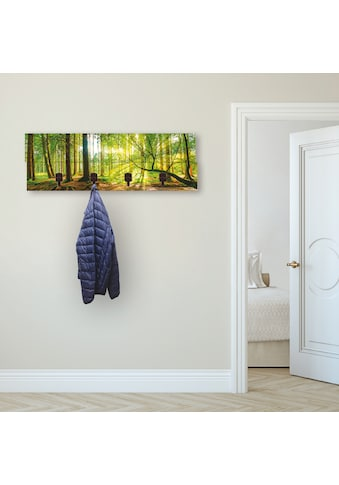 Artland Garderobenpaneel »Wald mit Bach«, platzsparende Wandgarderobe aus Holz mit 4... kaufen