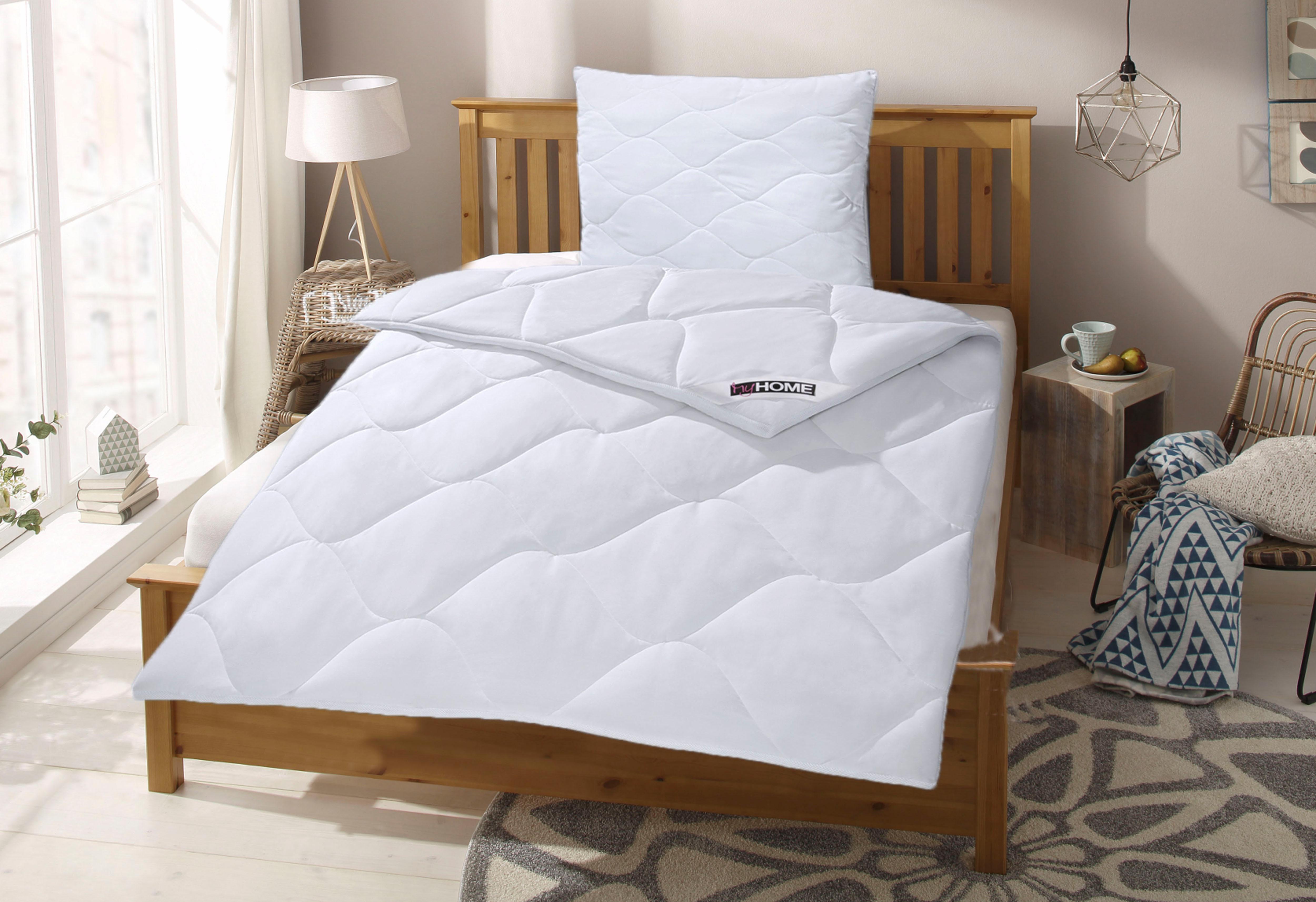 Image of Bettdecke + Kopfkissen, »Schlafkomfort mit Cotton Made in Africa«, my home, warm, (Set)