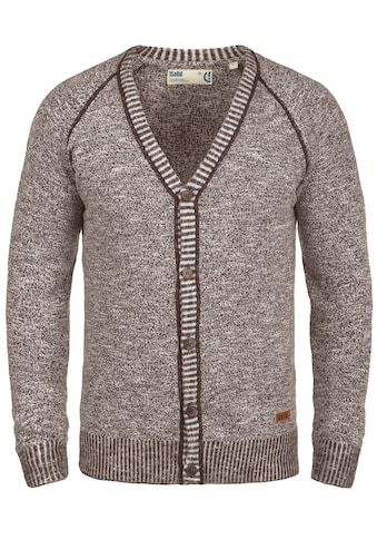 Solid Cardigan »Thiamin«, Strickjacke mit Holzknopf-Leiste kaufen