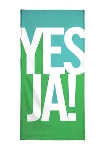 """Handtuch """"Ja!"""", Juniqe kaufen"""