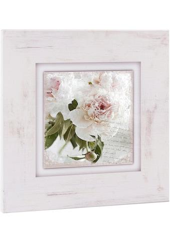 Home affaire Holzbild »Rosa Blume« acheter