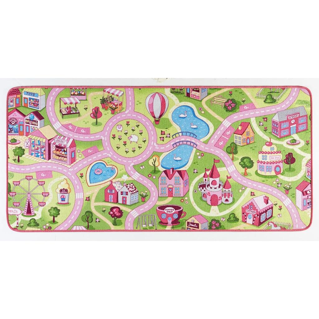 HANSE Home Kinderteppich »Sweettown«, rechteckig, 7 mm Höhe, Kinder Strassen-Spielteppich, Kurzflor