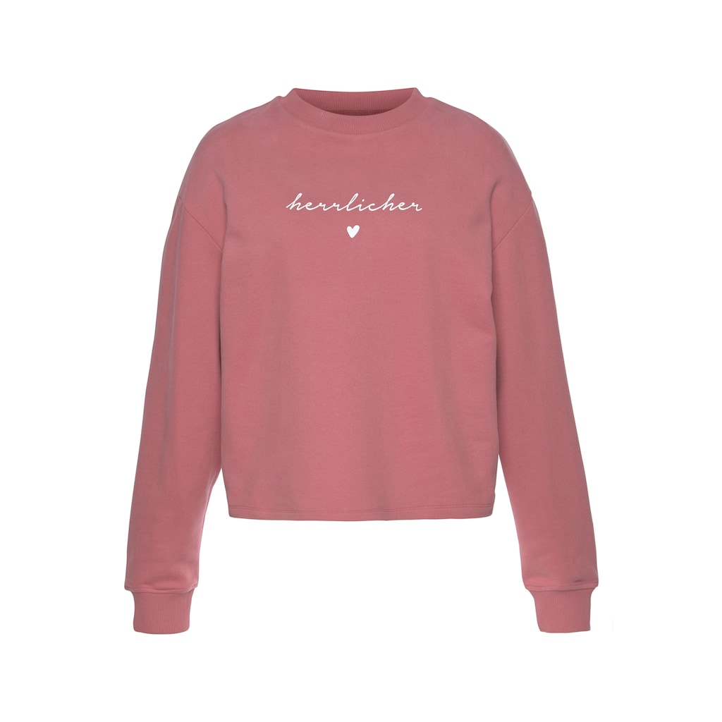 Herrlicher Sweatshirt »OTINA«, mit Herrlicher Logo-Statement-Print