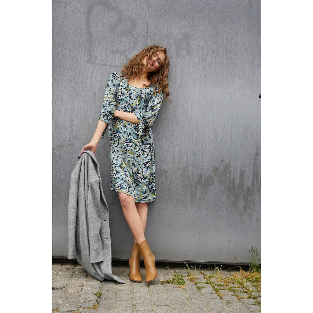 Aniston CASUAL Blusenkleid, mit Bindeband an den 3/4-langen Ärmeln