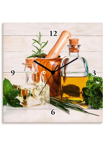 Artland Wanduhr »Olivenöl und Kräuter  -  Küche« kaufen