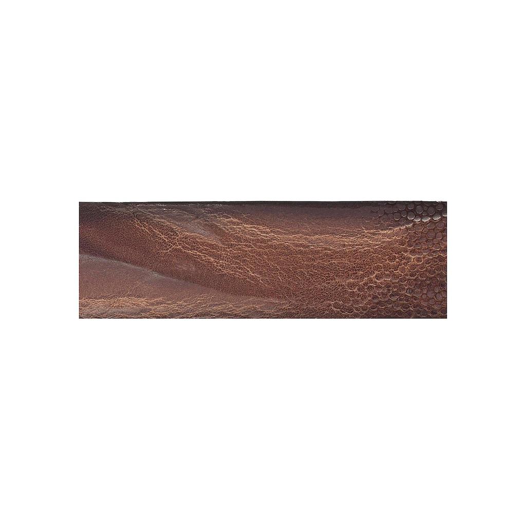 Vanzetti Ledergürtel, Mit Rochenprägung verziert