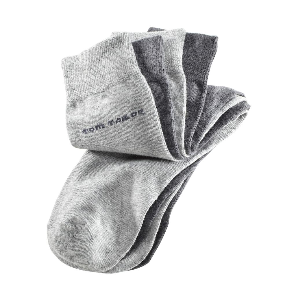 TOM TAILOR Socken, (4 Paar), mit druckfreiem Bündchen