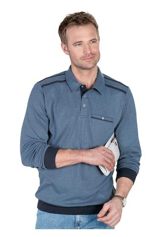 Classic Basics Sweatshirt mit Knopfverschluss kaufen