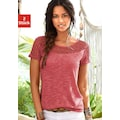 Vivance T-Shirt, mit weicher Häkelspitze