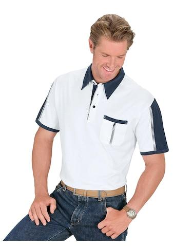 Classic Poloshirt mit farblich abgesetzten Einsätzen kaufen