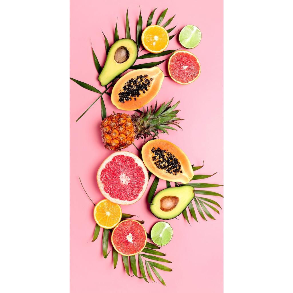 good morning Strandtuch »Pink Fruits«, (1 St.), mit tropischen Früchten