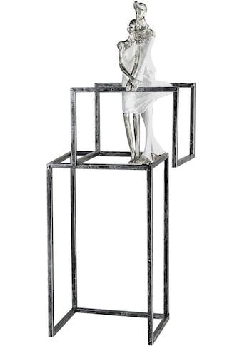 GILDE Dekofigur »Skulptur Love Construction, weiss/silberfarben«, Dekoobjekt, Höhe 59,... kaufen